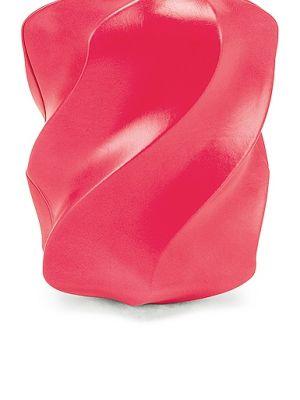 Różowa złota kopertówka Bottega Veneta