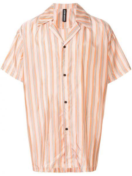 Klasyczna koszula krótki rękaw w paski z wiskozy Astrid Andersen