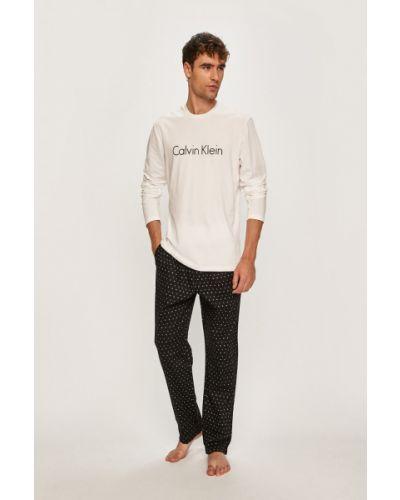Piżama biały długo Calvin Klein Underwear
