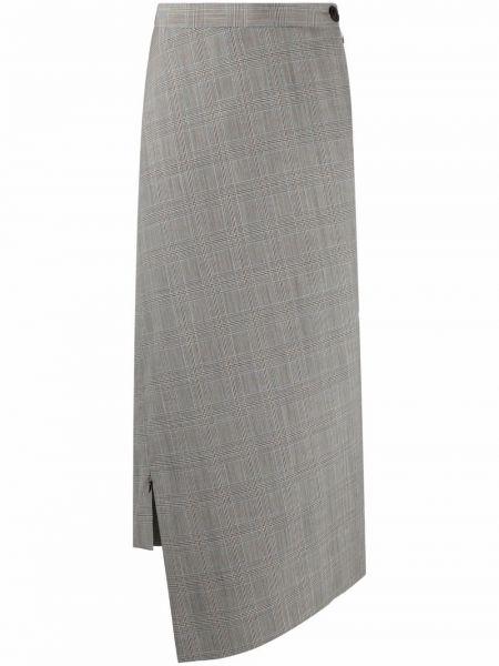 Шерстяная юбка миди - белая Vivienne Westwood