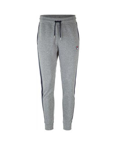 Спортивные брюки с лампасами льняные с карманами Fila