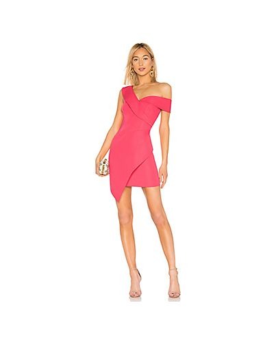 Платье мини розовое на молнии Bcbgmaxazria