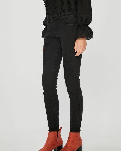 Черные джинсы-скинни с вышивкой с поясом Broadway