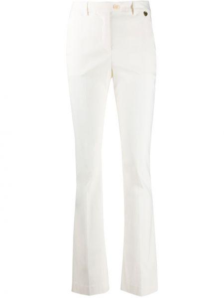 Белые с завышенной талией плиссированные джинсы на пуговицах Twin-set