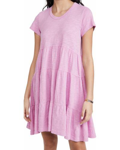 Текстильное платье с декольте с короткими рукавами Wilt