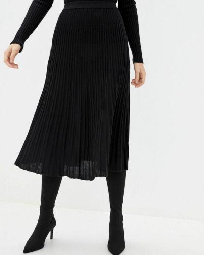 Черная плиссированная юбка Sewel