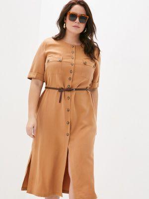 Коричневое повседневное платье Electrastyle