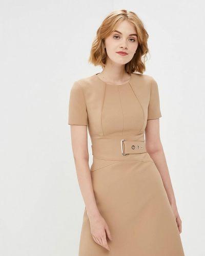 Платье осеннее бежевое Karen Millen