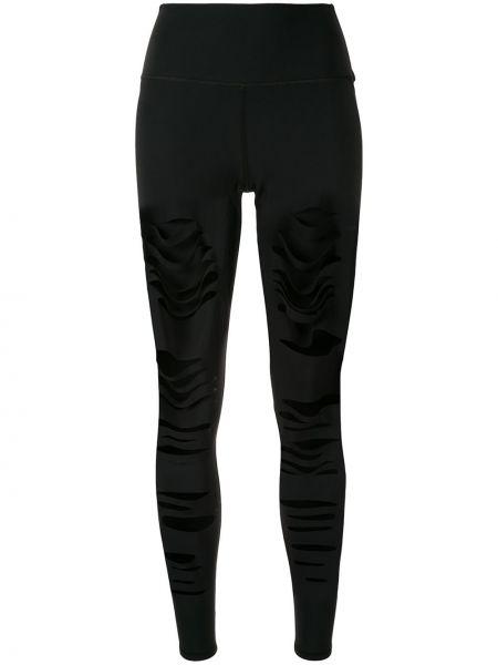 Черные спортивные брюки с поясом для йоги Alo Yoga