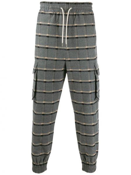 Spodnie bawełniane z printem Drole De Monsieur