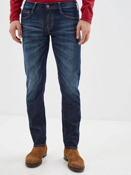 Синие зауженные джинсы-скинни из микрофибры Mustang