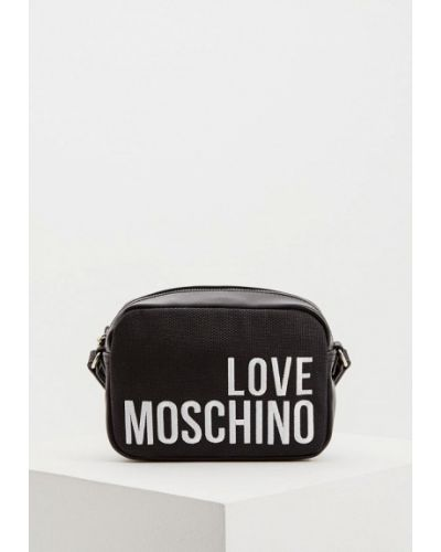 Сумка через плечо черная Love Moschino