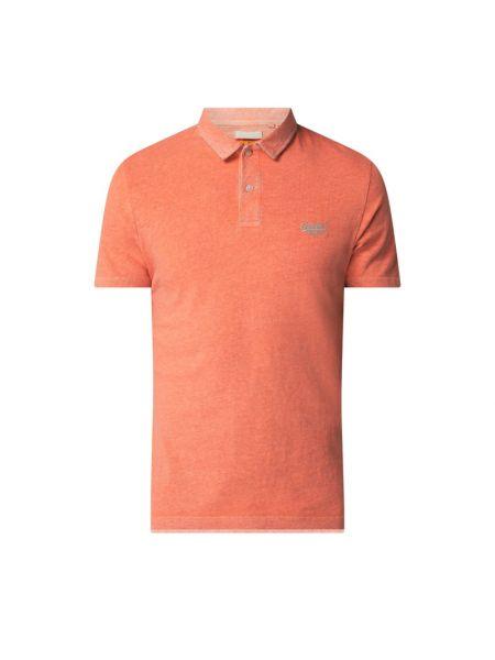 Pomarańczowy t-shirt bawełniany Superdry