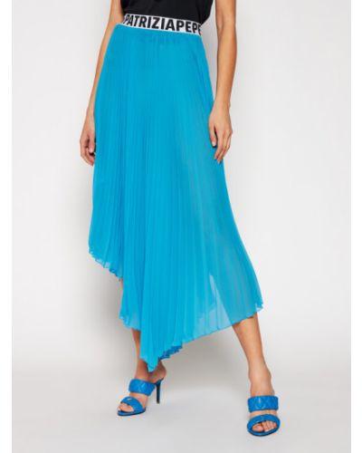 Spódnica plisowana - niebieska Patrizia Pepe