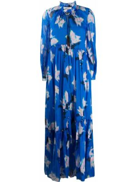 Платье с цветочным принтом со складками Dorothee Schumacher