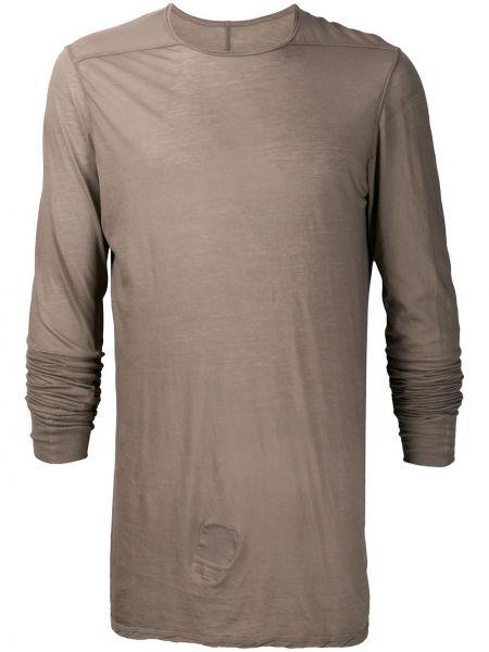 Koszula z długim rękawem długa światło Rick Owens Drkshdw