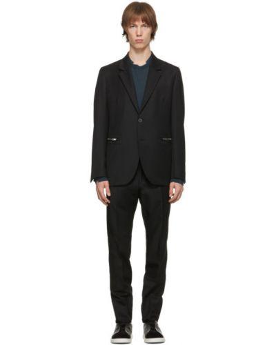 Брючный черный брючный костюм для полных Ermenegildo Zegna Couture