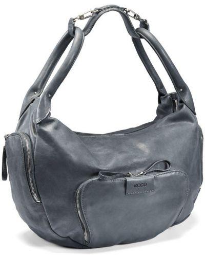 Кожаная сумка серая в морском стиле Ecco