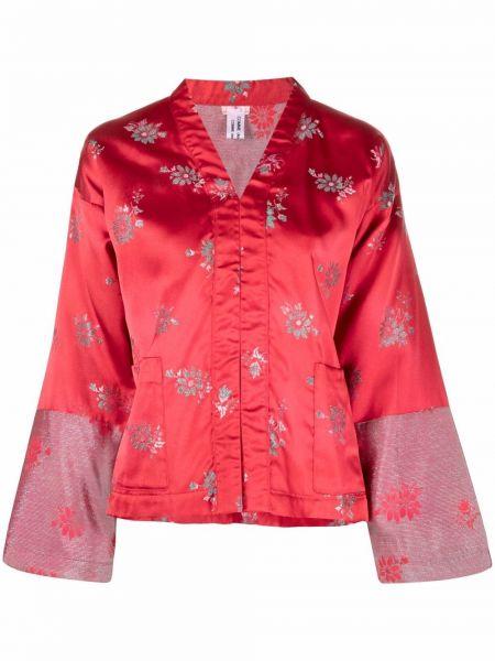 Красная длинная куртка свободного кроя металлическая Comme Des Garçons Comme Des Garçons