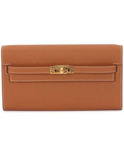 Brązowy portfel skórzany Hermes