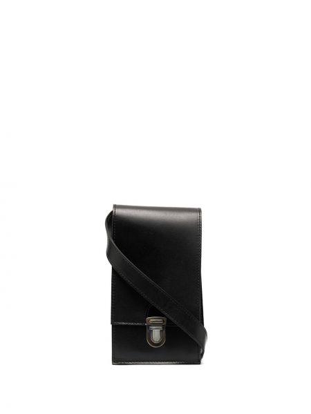 Кожаная черная кожаная сумка Cherevichkiotvichki