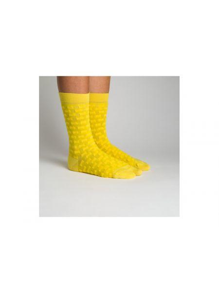 Żółte skarpety bawełniane Camper