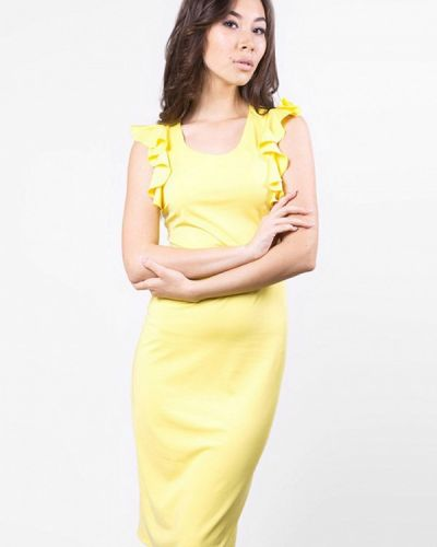 Желтое платье весеннее Sfn