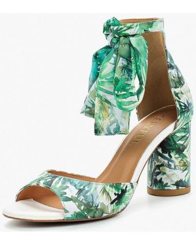 Зеленые босоножки на каблуке Keryful