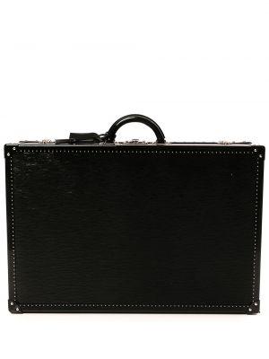 Лаковый кожаный черный чемодан Louis Vuitton