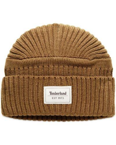 Трикотажная шапка бини - коричневая Timberland
