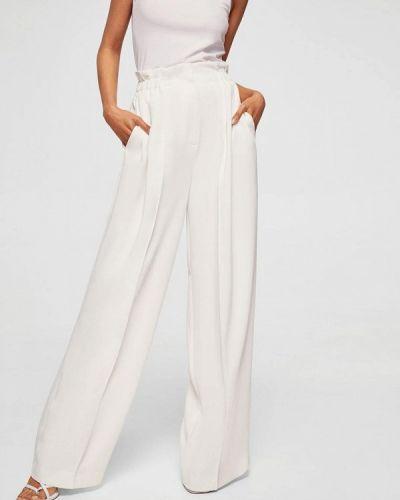 Белые брюки прямые Mango