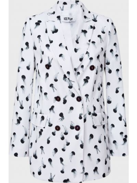 Пиджак на пуговицах - белый Ice Play