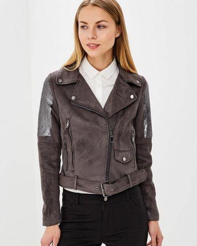 Кожаная куртка весенняя серая Laura Jo