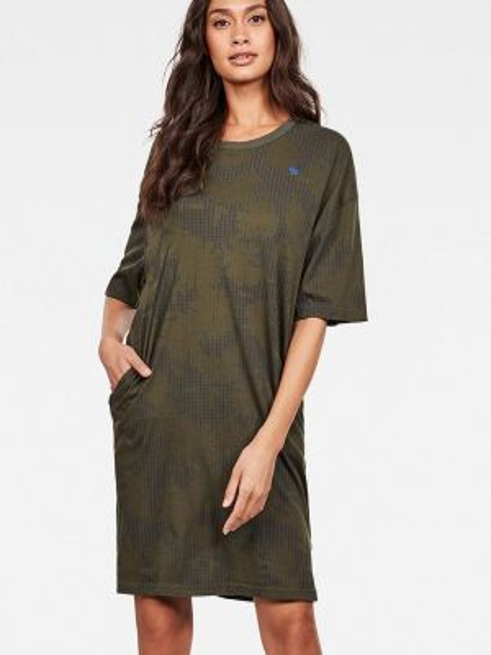 Платье футболка зеленый G-star