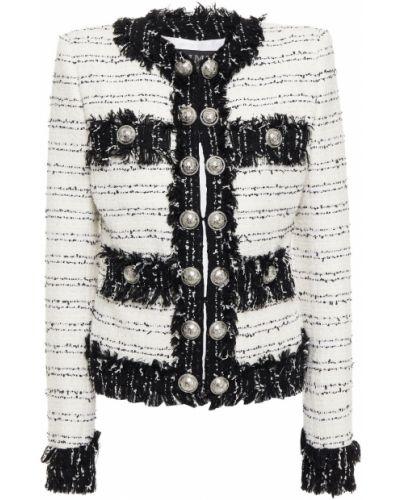 Белая шерстяная куртка Balmain