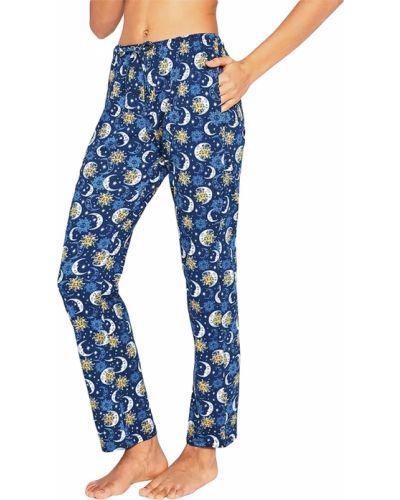 Синие хлопковые брюки Cornette