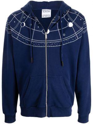 Bluza z nadrukiem z printem - niebieska Marcelo Burlon County Of Milan