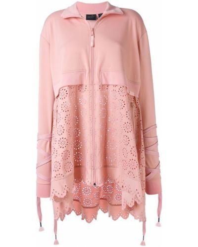 Длинная куртка розовая с вышивкой Fenty X Puma
