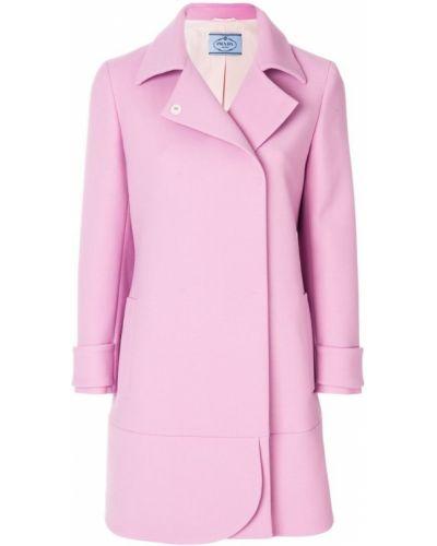Длинное пальто классическое с запахом однобортное Prada