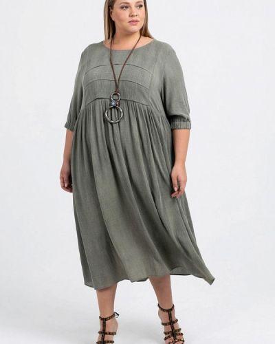 Повседневное платье зеленый хаки Petit Pas