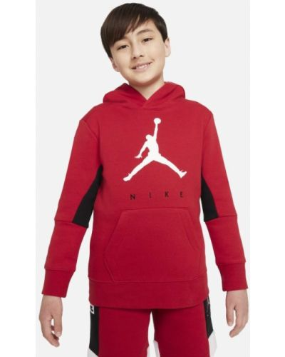 Czerwona bluza z kapturem Jordan