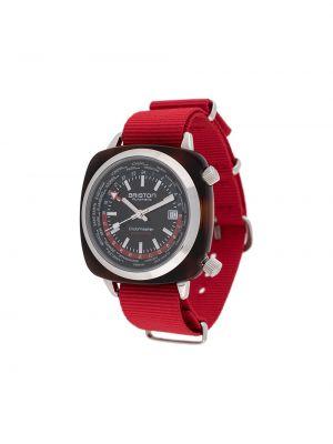 Черные часы водонепроницаемые круглые Briston Watches