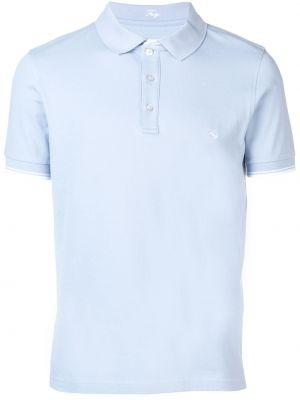 Синяя рубашка с воротником Fay
