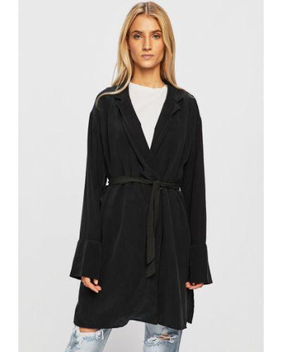 Классический пиджак в полоску черный Answear