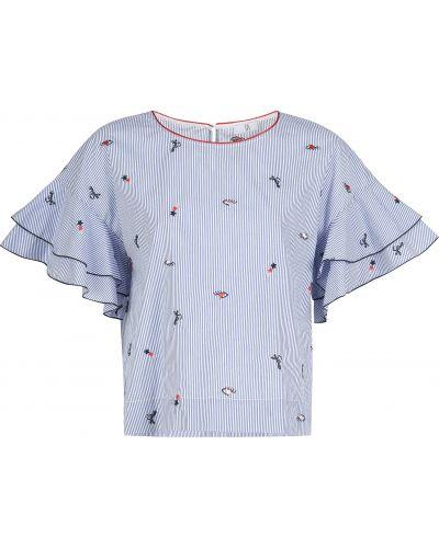 Хлопковая блузка - синяя Sfizio