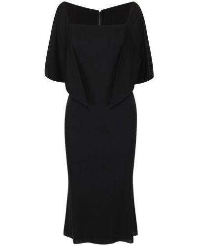 Платье миди платье-солнце приталенное с квадратным вырезом Dolce & Gabbana