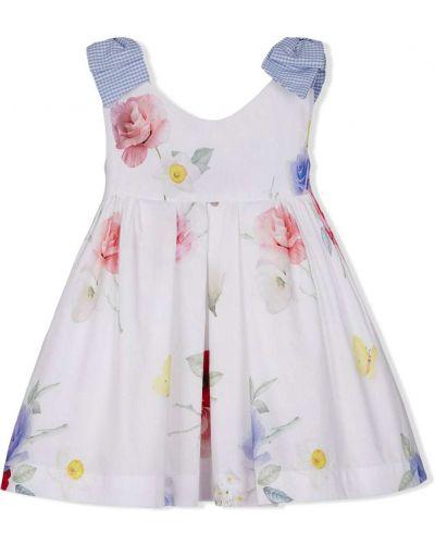 Домашнее белое платье в цветочный принт Lapin House