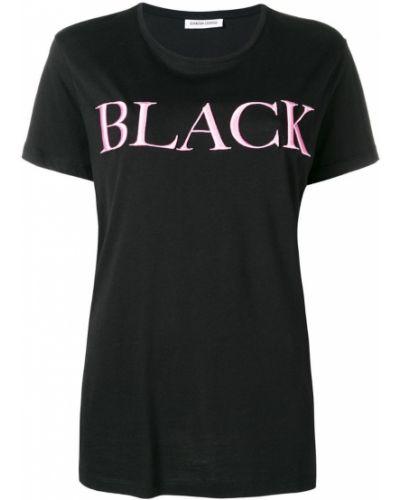 Футбольная черная футболка со стразами Quantum Courage