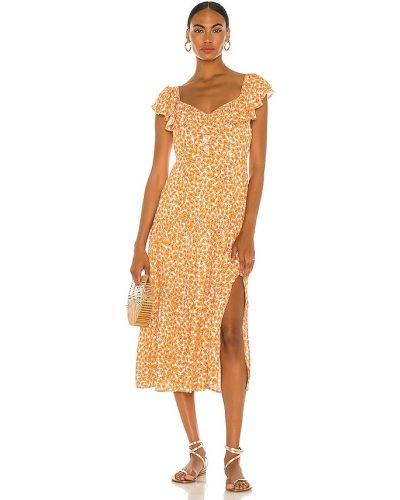 Pomarańczowa sukienka z wiskozy Minkpink