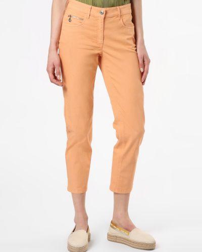 Pomarańczowe klasyczne spodnie Zerres